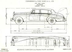 Limousine (with division) by Park Ward (design 858) - sketch