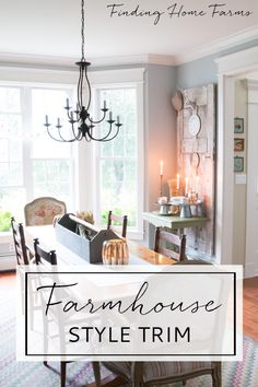 Farmhouse Style Trim & Molding - Finding Home Farms Farmhouse Trim, Farmhouse Windows, Farmhouse Interior, Farmhouse Style, Farmhouse Decor, Cottage Style, Home Renovation, Home Remodeling, Interior Trim