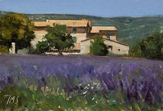 daily painting titled Vieux Mas à Sault - click for enlargement