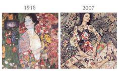 "Klimt secondo Steven Meisel, per l'editoriale ""Vogue Patterns"", 2007.  http://artsharingproject.com/larmadio-di-gustav-klimt/"