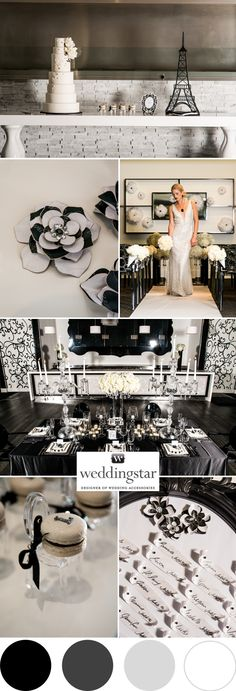 Une inspiration black & white. #wedding #decoration http://www.instemporel.com/s/19158_decoration-theme-noir-blanc