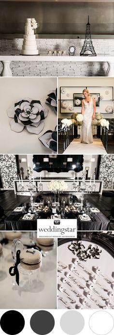 Une inspiration black & white. #wedding #decoration http://www.instemporel.com/s/19158_decoration-theme-noir-blanc