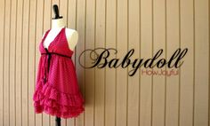 Sew a Valentine Babydoll Nightie + Cutting & Sealing Synthetic Fabrics - Free Tutorials #sewing