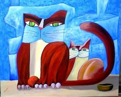 Cat Drawing, Painting & Drawing, Here Kitty Kitty, Types Of Art, I Love Cats, Traditional Art, Cat Art, Collage Art, Kittens