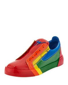 the best attitude 4fe31 be09b Mens Rainbow Patent Leather Low-Top Sneakers by Giuseppe Zanotti at Neiman  Marcus