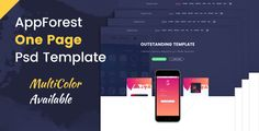 nice AppForest - Great Mobile App PSD Template (Computer software)