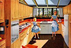 1950s kitchen extension Plan59 :: Retro 1940s 1950s Decor & Furniture :: Malarkey plywood, 1955