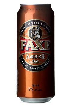 Cerveja Faxe Amber, estilo Vienna Lager, produzida por Faxe Bryggeri, Dinamarca. 5% ABV de álcool.