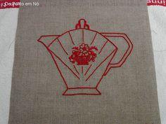 Art Déco teapot embroidery, via Flickr.