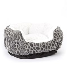 Look at this Black Textured Fleece Cuddler Pet Bed on #zulily today!