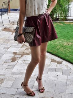 FASH!ON FACTOR!AL fall fashion #colored leather #beadedshell #oxblood #gucci #leopard