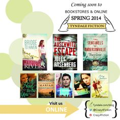 Let's get #Crazy4Fiction! Mark your calendars for great new #fiction from #TyndaleHouse.