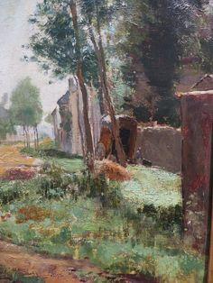 """""""Une allée à la Queue-en-Brie"""", Henri Rouart (1833-1912), Musée des beaux-Arts, Pau, Béarn, Pyrénées Atlantiques, Aquitaine, France."""