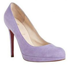Christian Louboutin New Simple 120mm Suede Pumps Lavender