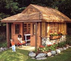 Rustic+Garden+Sheds+With+Porches | Creative & Affordable Home Improvements!