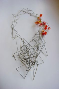 Necklace - Heather McDermott. Combining resin with the steel ~ Master's collection 2011.