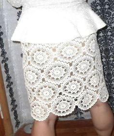 Pretty crochet skirt