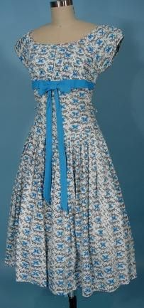 "late 1950's/early 1960's  ""Le Papillon "" (The Butterfly) Cotton Dress"