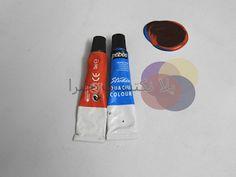 Mahmued.Art: الاوان تكوين اللون البنى بستخدام لونين البرتقالي والازرق نسبه الدمج الأزرق ١ البرتقالي١