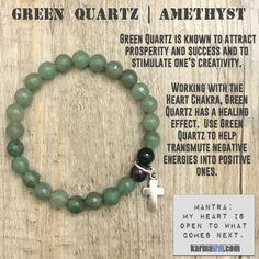 Working with the Heart Chakra, Green Quartz has a healing effect. Use Green Quartz to help transmute negative energies into positive ones. Green Quartz is also known to attract prosperity and success and to stimulate one's creativity. yoga #Chakra #stretch #bracelets #LOA #lucky #love #lawofattraction #mens #jewelry #gifts