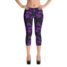 Capri Leggings - Purple Iris
