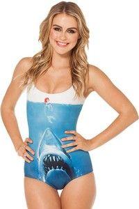 Tiburón VS Sirena Mono Traje de Baño