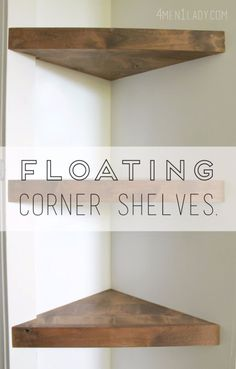 DIY Shelves and Do It Yourself Shelving Ideas - Floating Corner Shelves - Easy Step by Step Shelf Projects for Bedroom, Bathroom, Closet, Wall, Kitchen and Apartment. Floating Units, Rustic Pallet Looks and Simple Storage Plans http://diyjoy.com/diy-shelving-projects