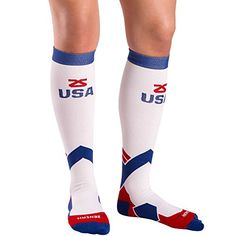 d14bf16486 Zensah USA American Flag Socks Compression Socks Running Travel Nurses  Sports Fitness Shin Splints **