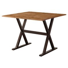 """Drop Leaf Rustic 40"""" Dining Table Wood/Brown - Linon Home Décor"""