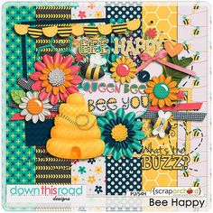 Bee Happy Mini Kit by Down This Road Designs. Now on sale for only USD1 only until December 2