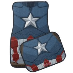 Check out our huge selection of Marvel car floor mats. Shop our designs, images, photo, & text to find some artwork to protect your car floor! Captain America Costume, Captain America Civil War, Car Mats, Car Floor Mats, Superhero Gifts, Chest Piece, Super Hero Costumes, Geek Chic, Marvel Movies