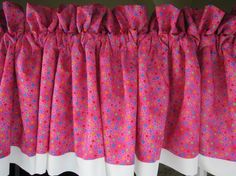 Curtain Valance Hot Pink Curtain Valance 84 wide by TheCottageWay, $15.00