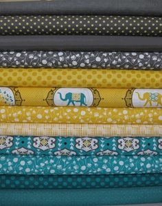 surprisingly love the color scheme for this bundle! teal, mustard, and dark gray!  hmmmm