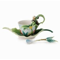 Monkey Mischief Cup, Saucer And Spoon
