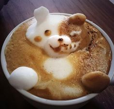 The rabbit, hippo and giraffe emerging from the coffee cups are the astonishing work of a barista in a Japanese cafe. Japanese latte artist Kazuki Yamamoto has taken coffee art to a higher level. Italian Espresso, Italian Coffee, Chocolates, Coffee Latte Art, Coffee Wiki, Coffee Mugs, Coffee Shop, Coffee Maker, Brunch