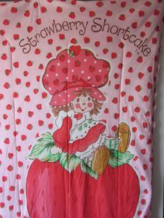 Vintage Strawberry Shortcake items | Vintage Strawberry Shortcake Sleeping Bag by NostalgiaMama on Etsy
