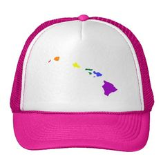 Hawaiian Rainbow Hat