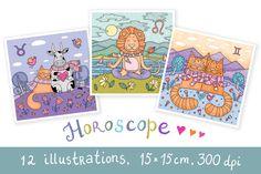 Check out Cute Horoscope by natsa on Creative Market
