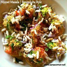 Nippat Masala. A tempting evening chaat/snack  a street food bringing from Bangalore, Karnataka India