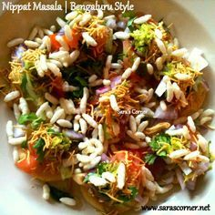 Nippat Masala. A tempting evening chaat/snack  a street food bringing from Bangalore, Karnataka India