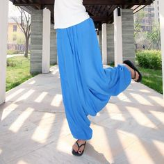 Cheap leg trousers, Buy Quality wide leg trousers directly from China trousers loose Suppliers: Women Pants Linen Cotton Loose Cross Pants Wide Leg Trousers Loose Dancing Pants Bloomer Casual Trousers Wide Pants, Wide Leg Trousers, Dance Pants, Harem Pants, Pants For Women, Clothes For Women, Drop Crotch, Legs, Dancing