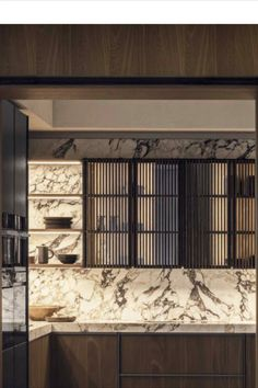 Glass cabinet doors with black vertical profiles. Glass Cabinet Doors, Tape, Windows, Curtains, Metal, Kitchen, Furniture, Black, Home Decor