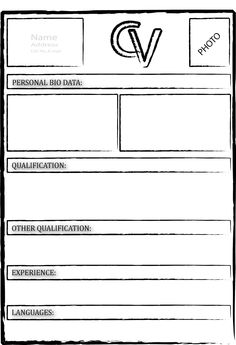 blank resume forms