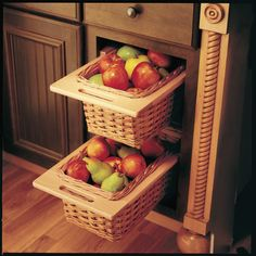 Countertop Vegetable Storage : and fruit storage on Pinterest Fruit Storage, Fruits And Vegetables ...