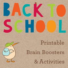 It's the end of the summer...and kids' brains need some stimulation to transition from lazy summer days to the new school year. Boost their brain power with these reading printables and activities!
