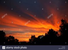 Download this stock image: Sunset Sky over Lohme, Ruegen, Mecklenburg Vorpommern, Germany - C78CR3 from Alamy's library of millions of high resolution stock photos, illustrations and vectors.