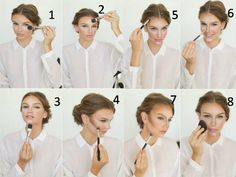 How to contouring and highlighting your face with makeup – Just Trendy Girls Face Contouring, Contouring And Highlighting, Contour Makeup, Face Makeup, Contour Face, Salon Names, Makeup Step By Step, Fashion And Beauty Tips, Makeup Techniques