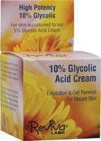 Reviva Labs 10% Glycolic Acid Cream  Want to get rid of those pimples that show up once a month? Glycolic acid works wonders!! I haven't had flare-ups in over a year.