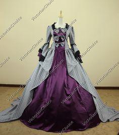Marie Antoinette Victorian Dress Wedding Ball Gown Reenactment