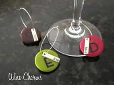 The wine glass charms are my favorite craft from this page full of winespiration!